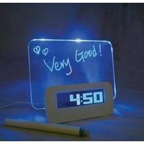 Reloj Despertador Fluorecente Para Mensaje