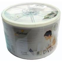 Pack 200 Unidades Dvd-r Virgen Cursor Estampado Logo 8x
