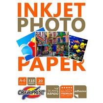 Papel Fotografico Autoadhesivo 20 Hojas A4 Alta Resolucion