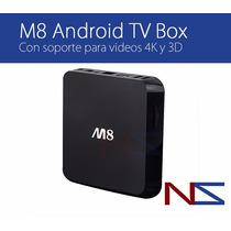 M8 Quad Core Android Tv Box 4k 3d