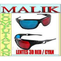 Lentes 3d Gafas Rojo Azul / Cyan Para Peliculas Y Juegos