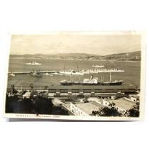 Foto Postal Valparaiso Chile Escuadra Chilena Armada