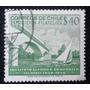 Estampilla Chile Centenario Instituto Aleman - Valdivia 1958