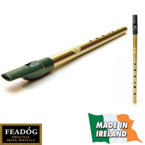 Tin Whistle Flauta Irlandesa En Re Original, De Bronce