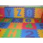 Alfombra Puzzle Goma Eva 32x32 Abecedario Completo Y Numeros