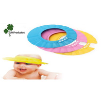 Visera Sombrero De Baño Gorro Protector Ducha Niños Bebes
