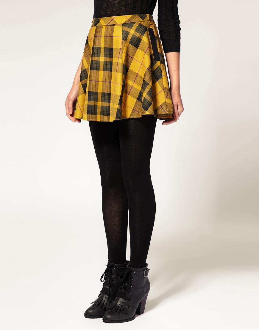 Yellow Tartan Skirt Uk 68