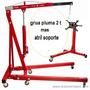 Tecle Grua Pluma 2 Ton + Atril Soporte Multi Banco Motor