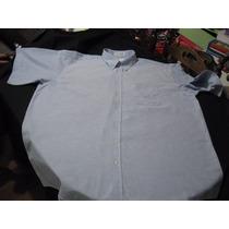Camisa De Vestir Enro Talla 3xl Manga Corta Color Celeste