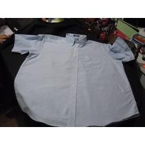 Camisa De Vestir Stafford Talla 3xl Manga Corta Color Celest