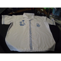Camisa Guayabera Hawaiana Exclusiva Talla L Manga Corta