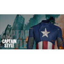 Chaqueta De Cuero Heron Capitán América.edic. Limitada.-