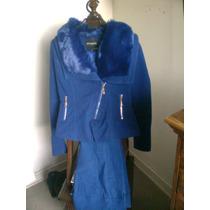 Vendo Chaqueta Juvenil Azul Electrico Nº 38