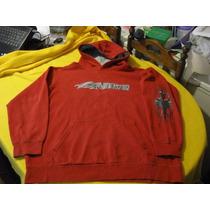 Poleron Con Gorro Nike Talla M Color Rojo