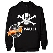 St Pauli Poleron Estampado Antifacista Calavera Pirata