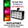 Estroboscopica 12 Led Rgb Ritmica O Automatica Luz Disco