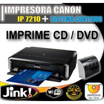 Impresora Canon Pixma Ip7210 Sistema Continuo Cd - Dvd