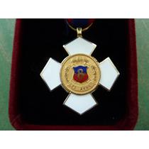 Medalla Bomberos Santiago Con Estuche