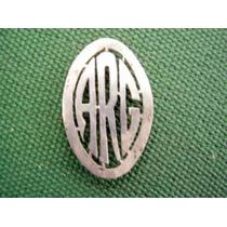 Insignia Logo Iniciales Arg De Plata-adorno
