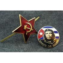 Estrella Roja Rusa Sovietica Y Piocha Che Guevara