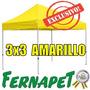 Toldo Plegable Amarillo 3x3 Fácil De Armar, Gazebo, Carpa