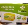 Jaula Acrilica Hamster, Marca Pet Planet, Color Amarillo