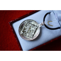 Conjunto Colgante Plata Y Caucho (aros,cadena,anillo)
