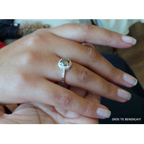 Anillos Plata Diamante Moissanite Champaña 1.75kilates N14