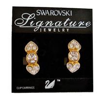 Aros Swarovski Originales Cristales Brillantes Distinguidos
