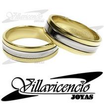 Argollas Plata Y Oro 18k 9.3 Gr Cinta