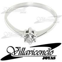 Anillo De Oro Blanco 18k 2 Gr Con Cristales Swarovski