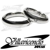 Argollas De Oro Blanco 18k 12 Gr Inglesas 1 Diamante 5 Pt