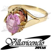 Anillo De Oro 18k 1.8 Gr Chaton Español Con Rosa De Francia