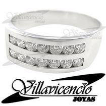 Anillo De Oro Blanco 18k 5 Gr Con Cristales Swarovski