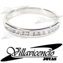 Anillo De Oro Blanco 18k 2.5gr Con Cristales Swarovski