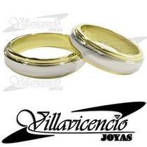 Argollas Platino Y Oro 18k Cinta Italianas 18 Gr