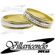 Argollas Platino Y Oro 18k 13.2 Gr Cinta 11 Diamantes