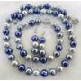 Conjunto Collar Pulsera Y Aros De Concha Perlas (nacar)