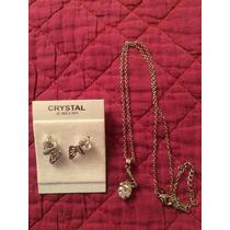 Se Vende Colgante Cristal De Plata Mariposa Aros