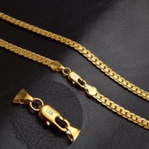Cadena Bañada En Oro 18k Para Hombres