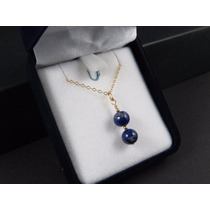 Collar De Gold Filled 14k Y Colgante De Lapislázuli Natural