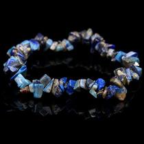 Pulsera De Lapis Lazuli Elasticada (chips)