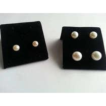 Aros De Plata Con Perlas Cultivadas