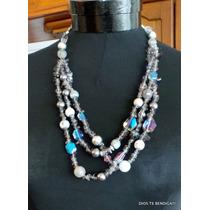 Erica Lyons Collar Piedras Naturales Cristales Y Perlas