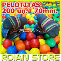 Set De 200 Pelotas Piscina Plásticas 70mm Calidad Superior