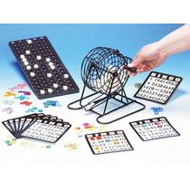 Bingo Tombola Metal + 100 Cartones Desechables Juego Loteria