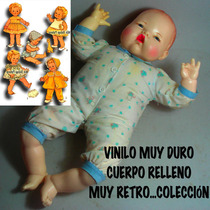 Muneco Bebe Recién Nacido Ideal Toy Vintage, 43 Cm. B/estado