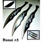Set De 3 Cuchillos De Lanzamiento Kunai #5
