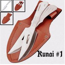Set 2 Cuchillos Lanzamiento Kunai#1 Ninjutsu Tactico Shurike