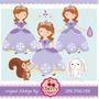 Kit Imprimible Princesa Sofia 3 Imagenes Clipart
